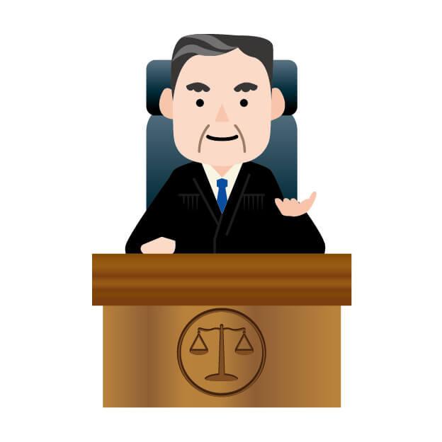 裁判官のイメージイラスト