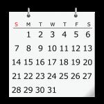 カレンダーのイメージイラスト