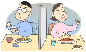 家庭内別居のイメージイラスト